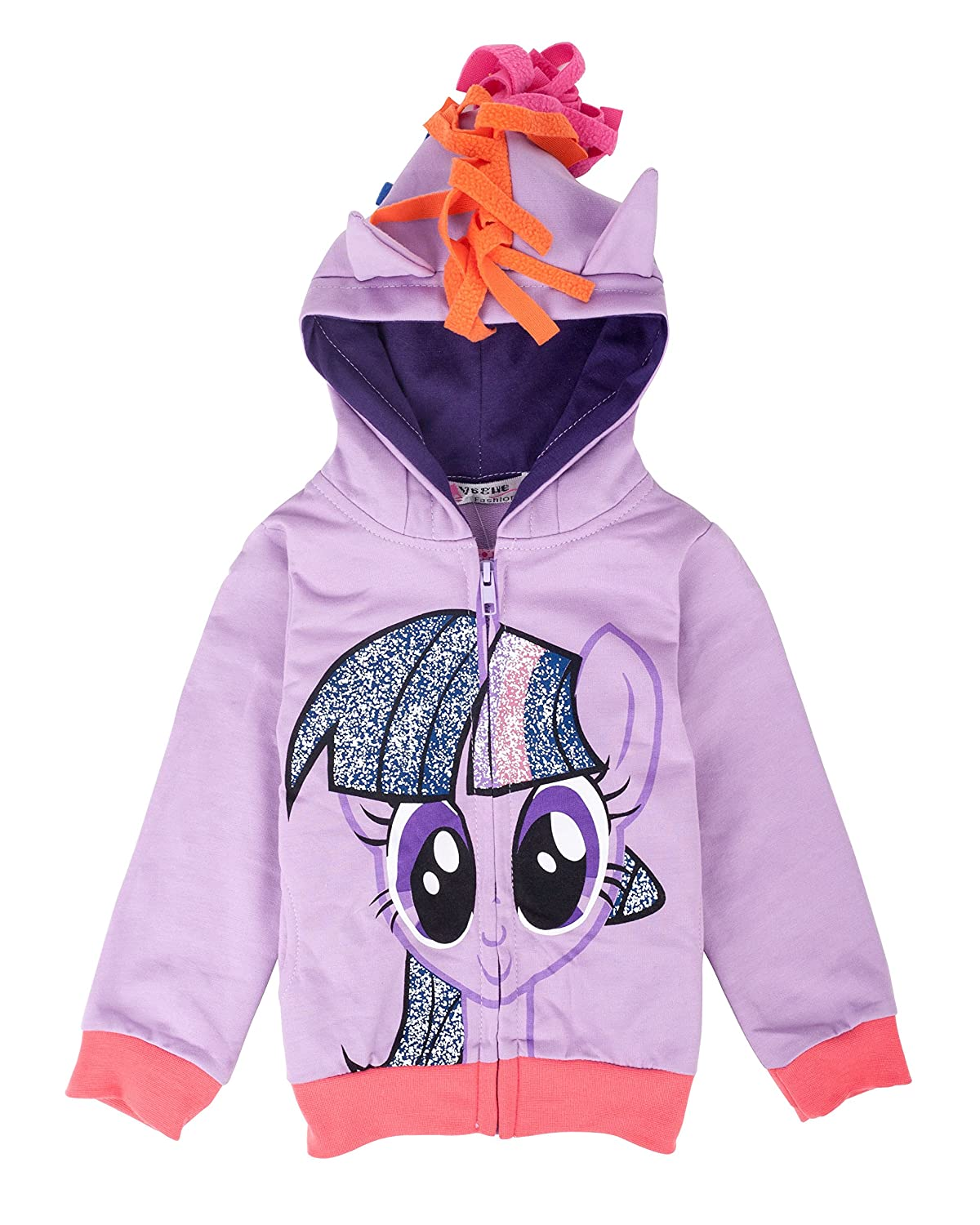 SummitLink Girls' Rainbow Dash Hoodie