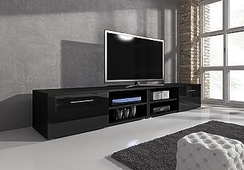 Tv schrank schwarz  TV Möbel Lowboard TV-Element TV Schrank TV-Ständer Entertainment ...
