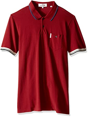 c96e028ea Ben Sherman Men s Solid Chest Pocket Polo Shirt with Dual Color Tipping