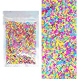 10 Grams - Chunky Rainbow Cosmetic Glitter - Black Light Activated - Festival Rave Beauty Makeup Face Body Nail