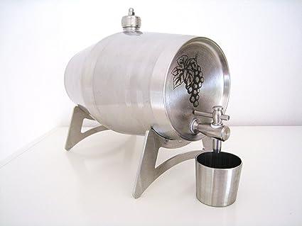 Acero inoxidable bidón de 5 litros - barril de acero ...