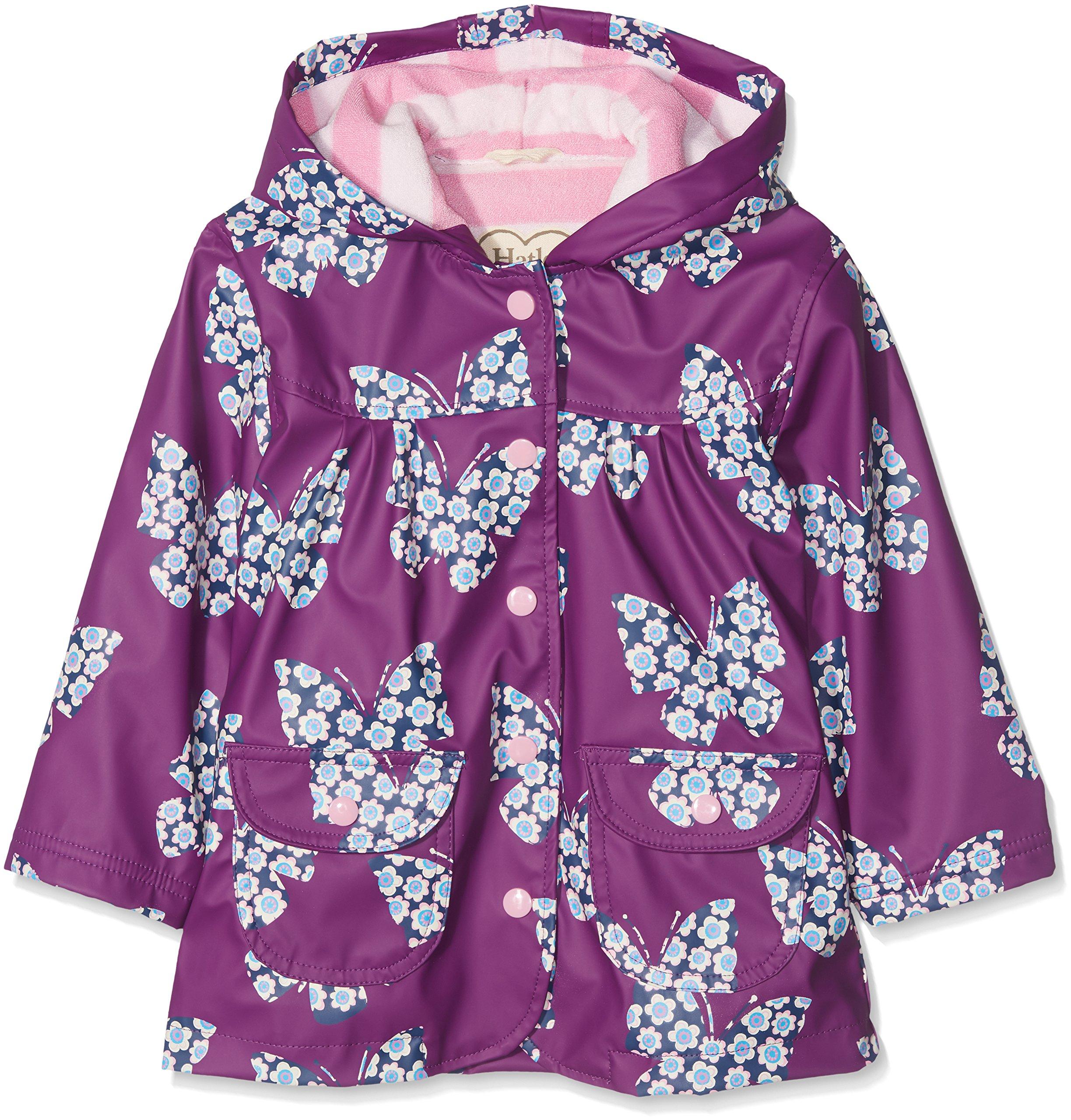 Hatley Girls' Little Printed Raincoats, Buttrflies and Buds, 3