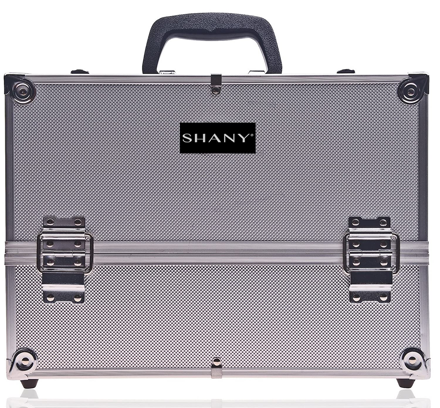 SHANY Essential Pro Makeup Train Case with Shoulder Strap and Locks - Pink SH-C005-Pink