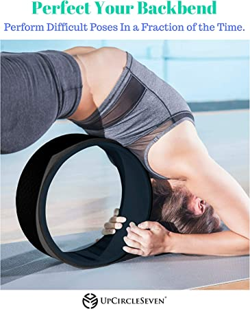 UpCircleSeven Yoga Wheel Set - Strongest & Most Comfortable Dharma Yoga Prop Wheel, 3 Pack for Back Pain and Stretching (12, 10, 6 inch)