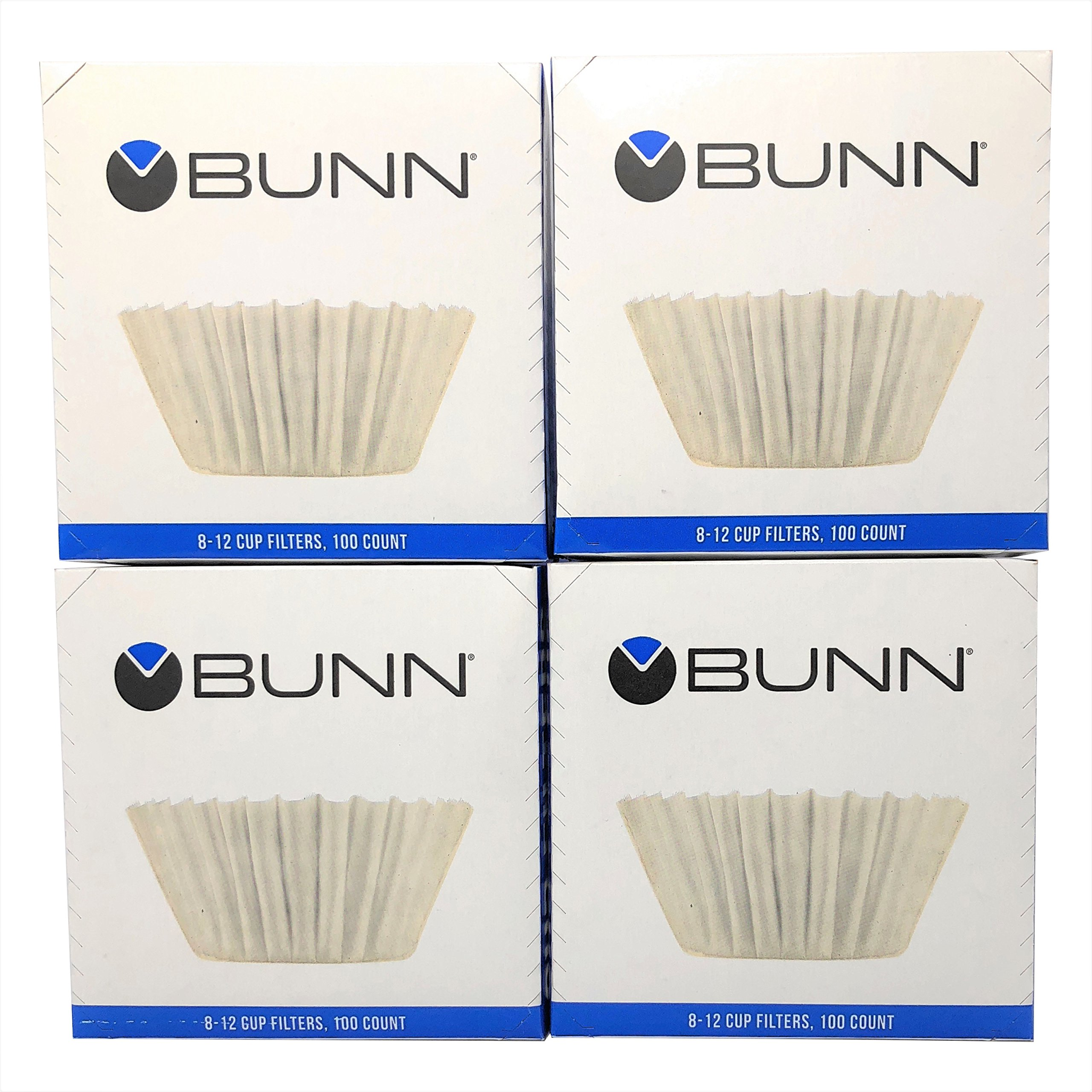 Bunn BCF100 BCF100-B 100-Count Basket Filter (Pack of 4),White, 4,