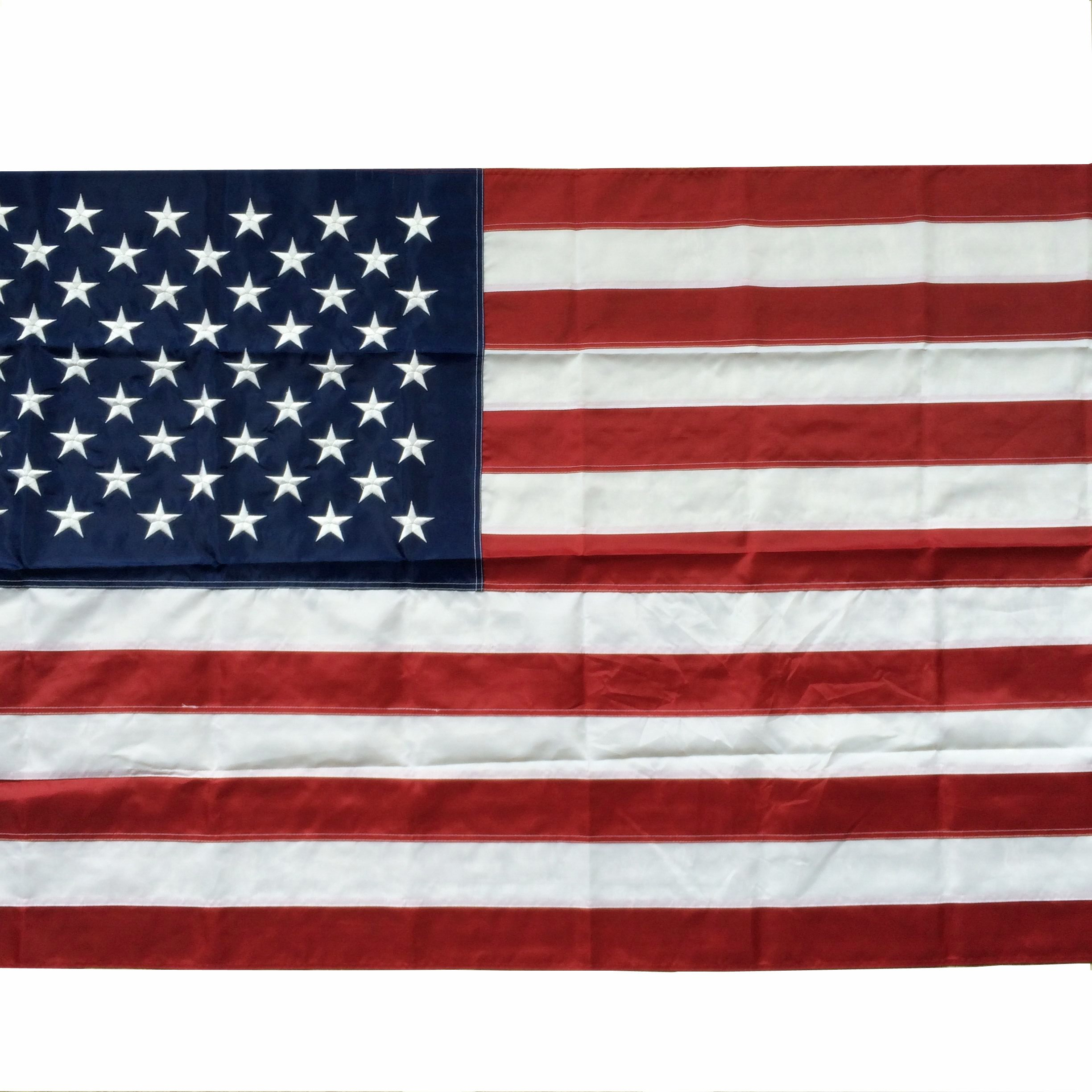OTLIVE 3x5 ft Home Garden Flags Embroidery Starts and Stripes American Flag Nylon Flag Indoor/Outdoor