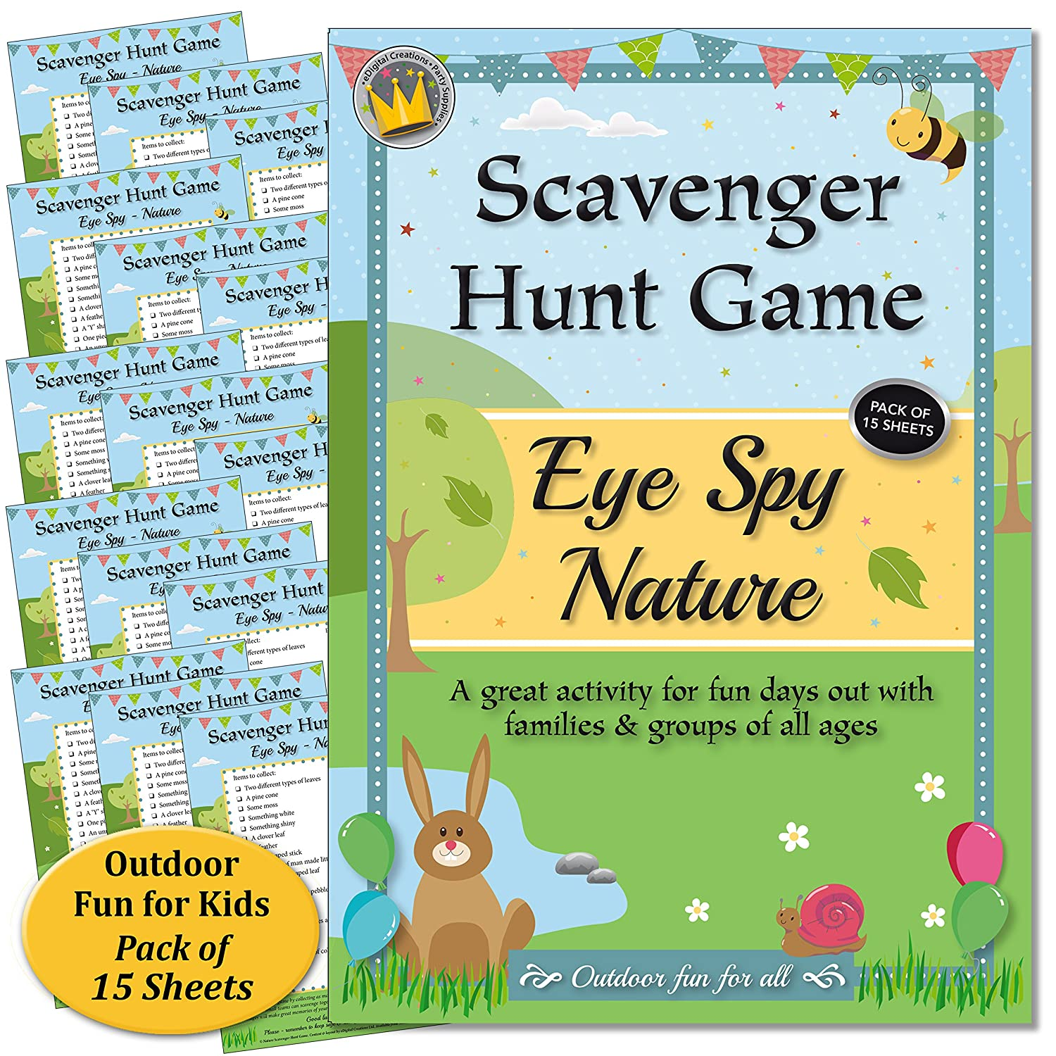 gofindit outdoor nature treasure hunt card game for families