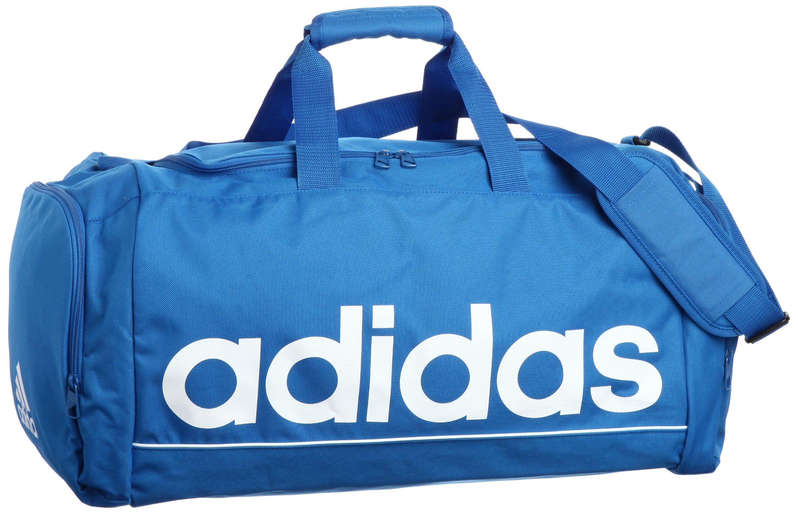 333098bef030 Galleon - Adidas Linear ESS TBM Gym Bag Duffle Bag (Prime Blue)