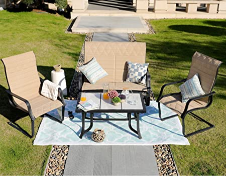 Outdoor Patio Wicker Furniture New All Weather Resin 7-Piece Dining Table Chair Set
