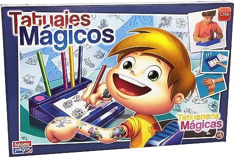 Falomir Tatuajes Mágicos Azul, Juego de Mesa, Manualidades (646454 ...