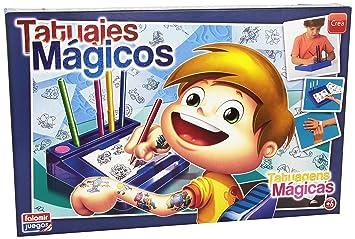 Falomir 646454 Juego Tatuajes Magicos Nino Amazones Juguetes Y - Juegos-de-tatuajes-para-nios