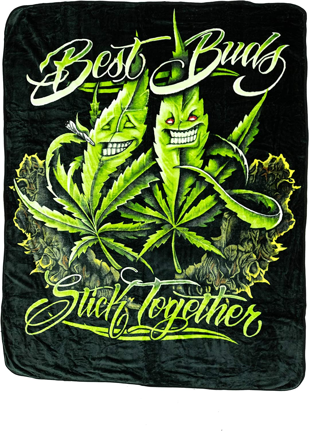 Signature Collection Best Bud Stick Together Super Soft Plush Queen Size Blanket