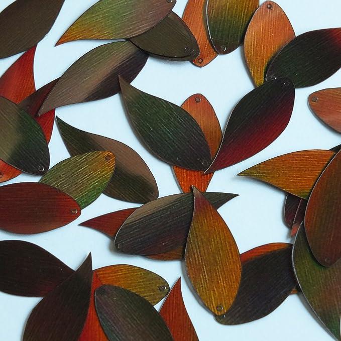 Maple Leaf Sequin 1.25 Aqua Blue Lazersheen Reflective Metallic Loose Couture Paillettes