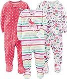 Simple Joys by Carter's pijama de algodón para bebés y niñas pequeñas, 3 unidades ,Rainbow,strawberry,multistripe…