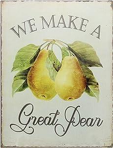 "Barnyard Designs We Make A Great Pear Funny Retro Vintage Tin Bar Sign Country Home Decor 13"" x 10"""