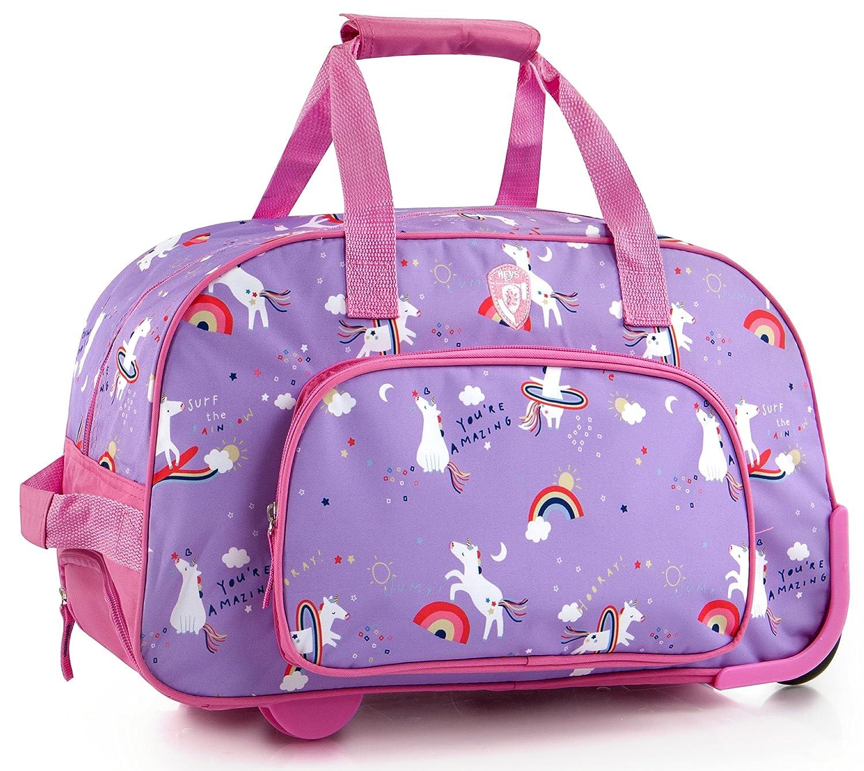 3f418a0860a2 Amazon.com  Heys Kids 18 Inch Rolling Duffel Bag Shoulder Bag - Unicorn   Sports   Outdoors