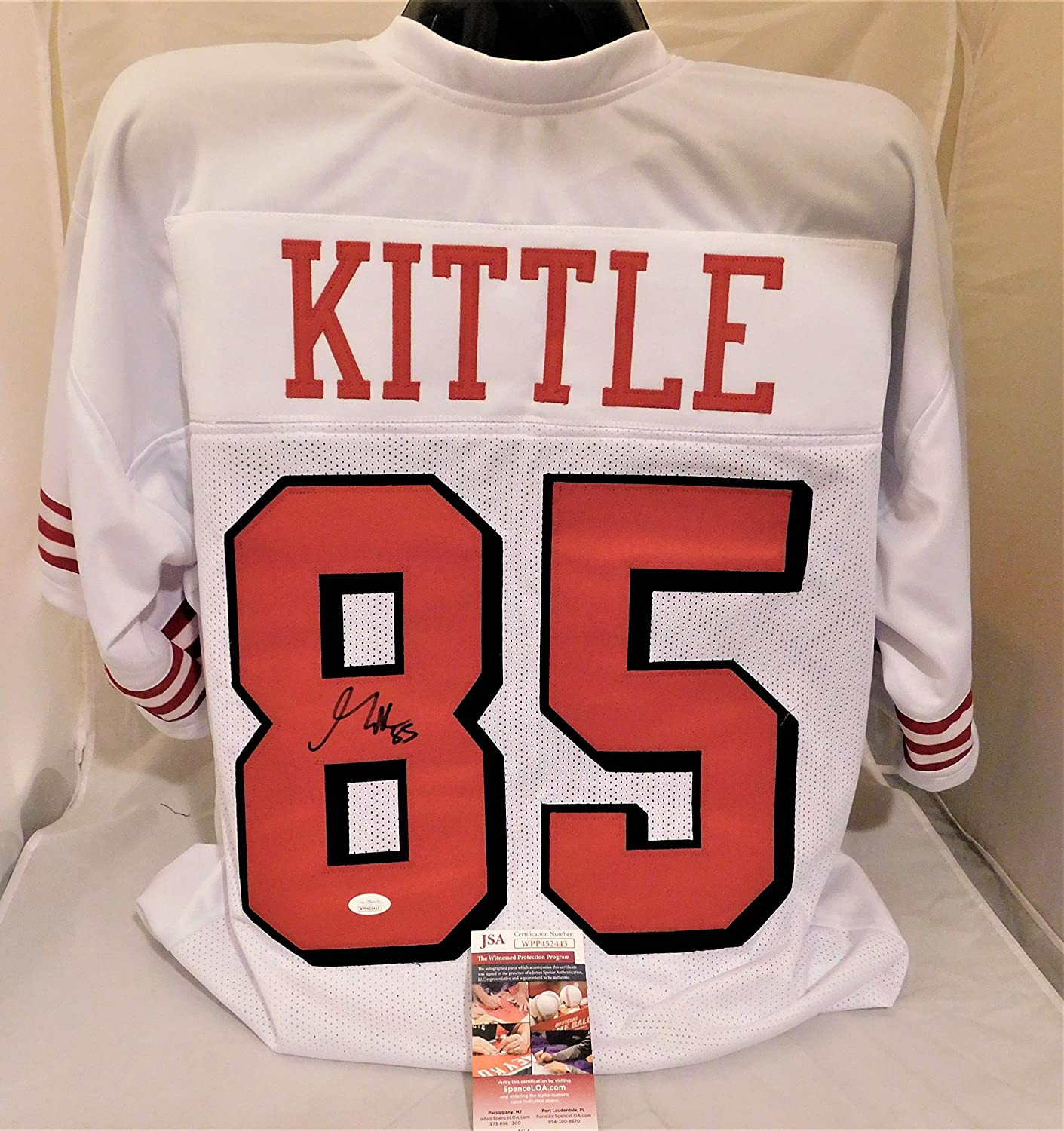 new style 1a995 1e707 Amazon.com: GEORGE KITTLE Signed/Autographed 49ers Authentic ...