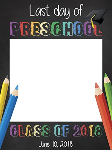 Amazon.com: Last day of School, Graduation Photo Booth, Class of ...