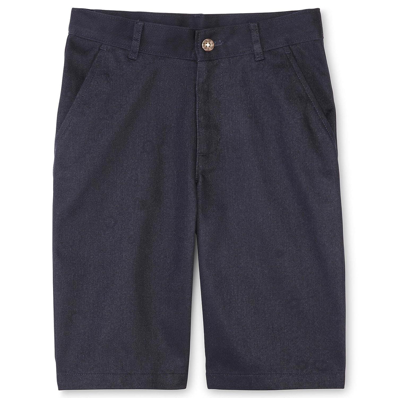 IZOD Boys Uniform Shorts Navy Flat Front Size 12 Husky