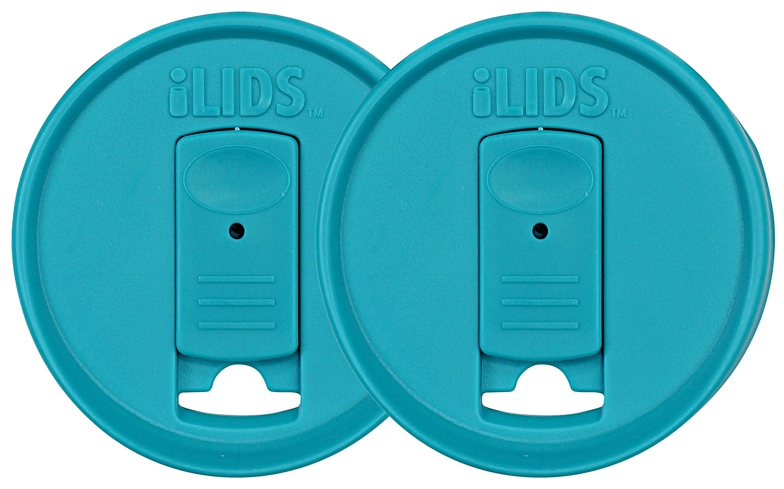 iLIDS Mason Jar Drink Lid, Regular Mouth, BPA Free, Made in the USA, Aqua Blue, 2-Pack