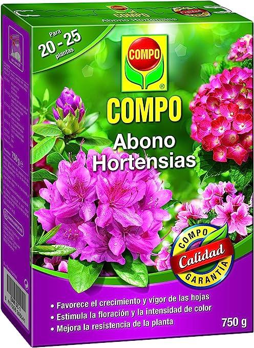 Compo Abono de hortensias y Camelias para Plantas de Interior, terraza y jardín, Fertilizante líquido con Extra de Hierro, 750 g: Amazon.es: Jardín