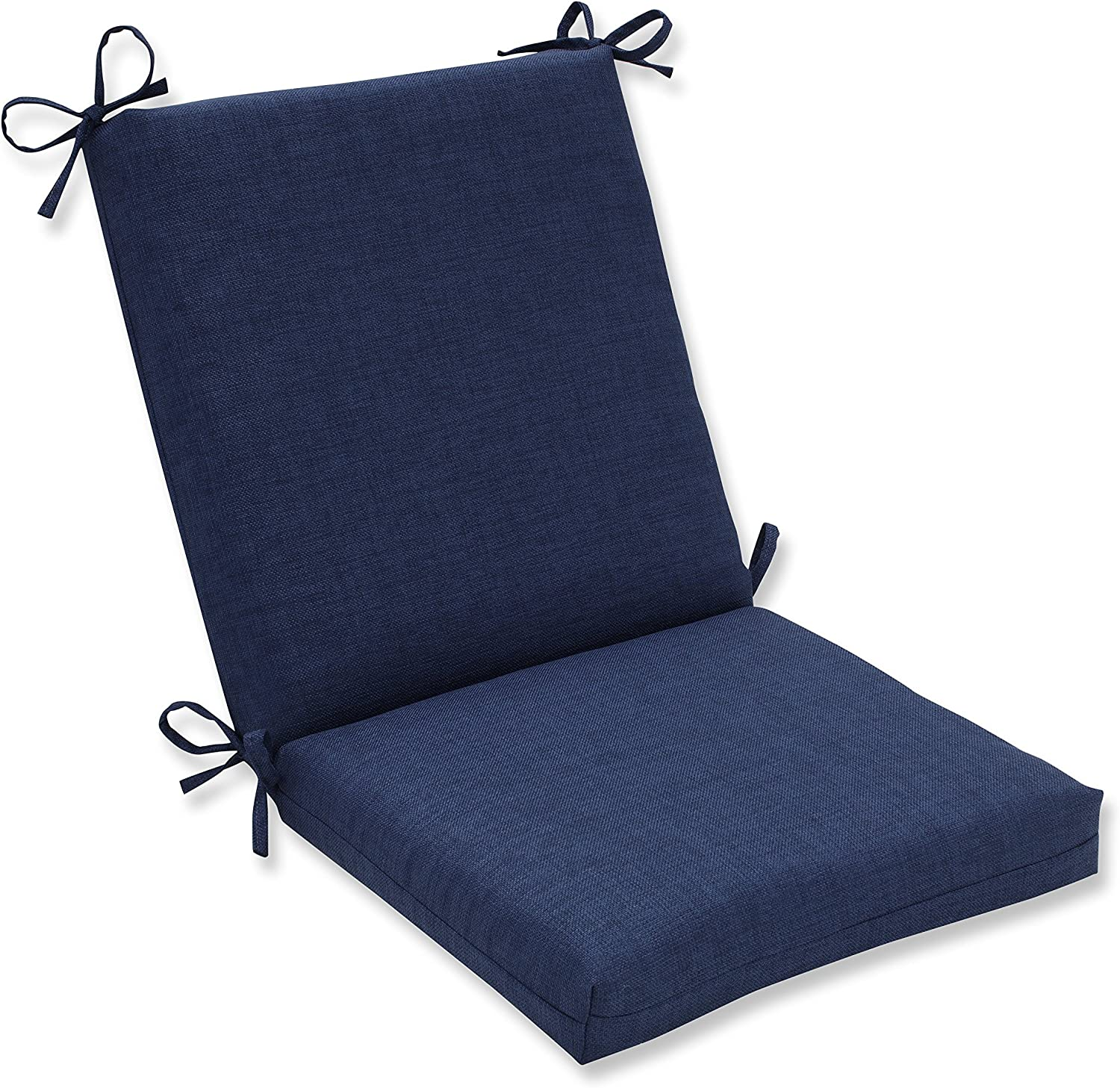 Pillow Perfect Outdoor/Indoor Rave Indigo Squared Corners Chair Cushion