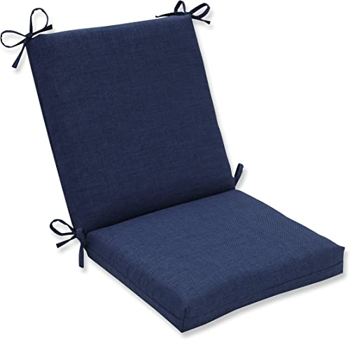 Pillow Perfect Outdoor Indoor Rave Indigo Square Corner Chair Cushion, 36.5 x 18 , Blue