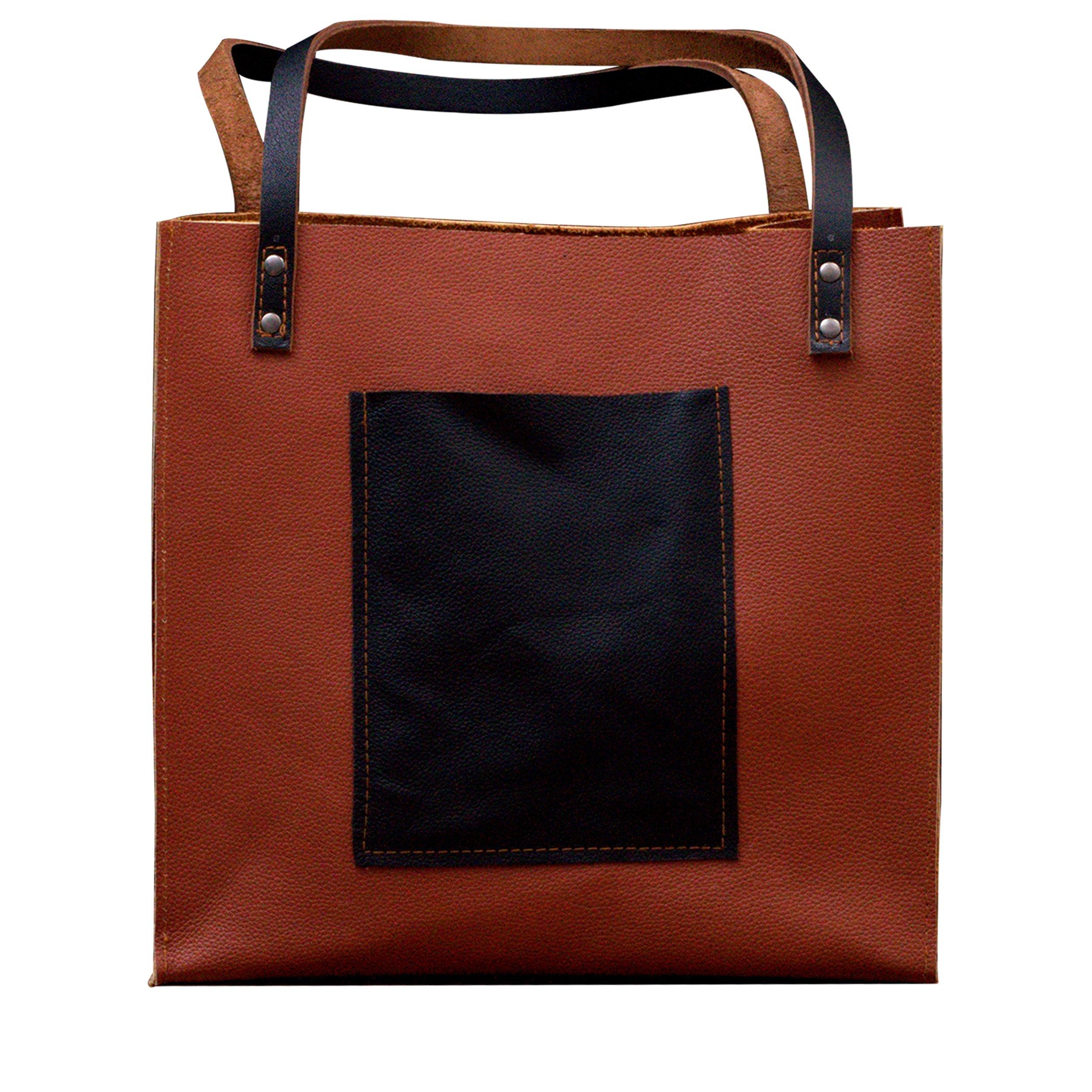 MONT5 Handcrafted Everyday Large CarryAll Women Leather Tote Shoulder Handbag