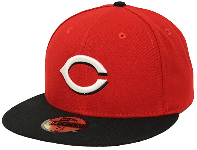 81d4290bf New Era 59Fifty On Field Cincinnati Reds Red Black Fitted Cap at ...
