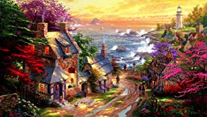 1000 Piece Jigsaw Puzzles for Kids Adults Indoor Home Educational Intellectual Decompressing Fun Games (Garden House Puzzles)