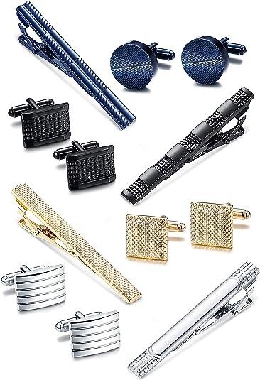Milacolato Tie Clip y Conjuntos de Gemelos para Hombres Corbata ...