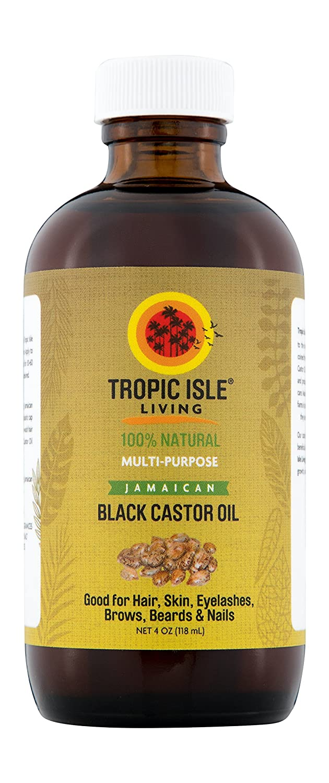 Tropic Isle Living Jamaican Black Castor Oil Glass Bottle (4 oz) TILJBCO4OZGL1