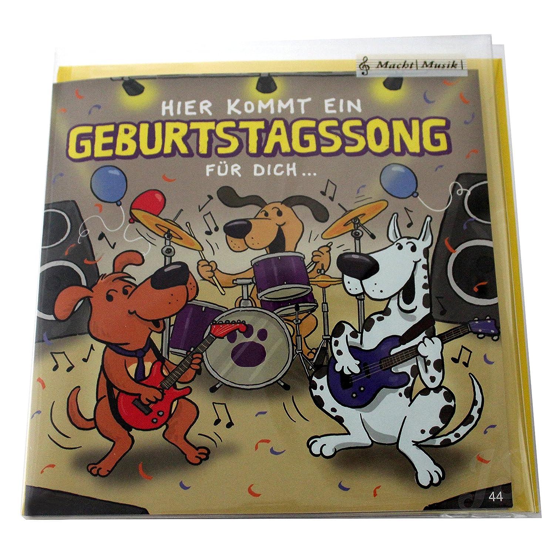 Glückwunschkarte mit Musik Soundkarte A5 verschiedene Motive