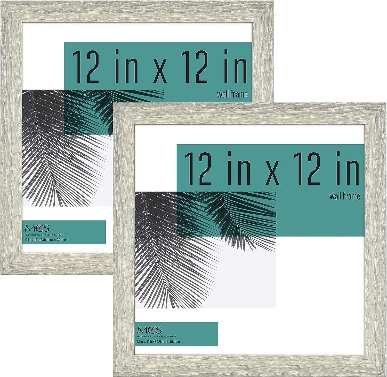MCS Industries Studio Gallery Frames, 12x12 in, Gray Woodgrain, 2 Count
