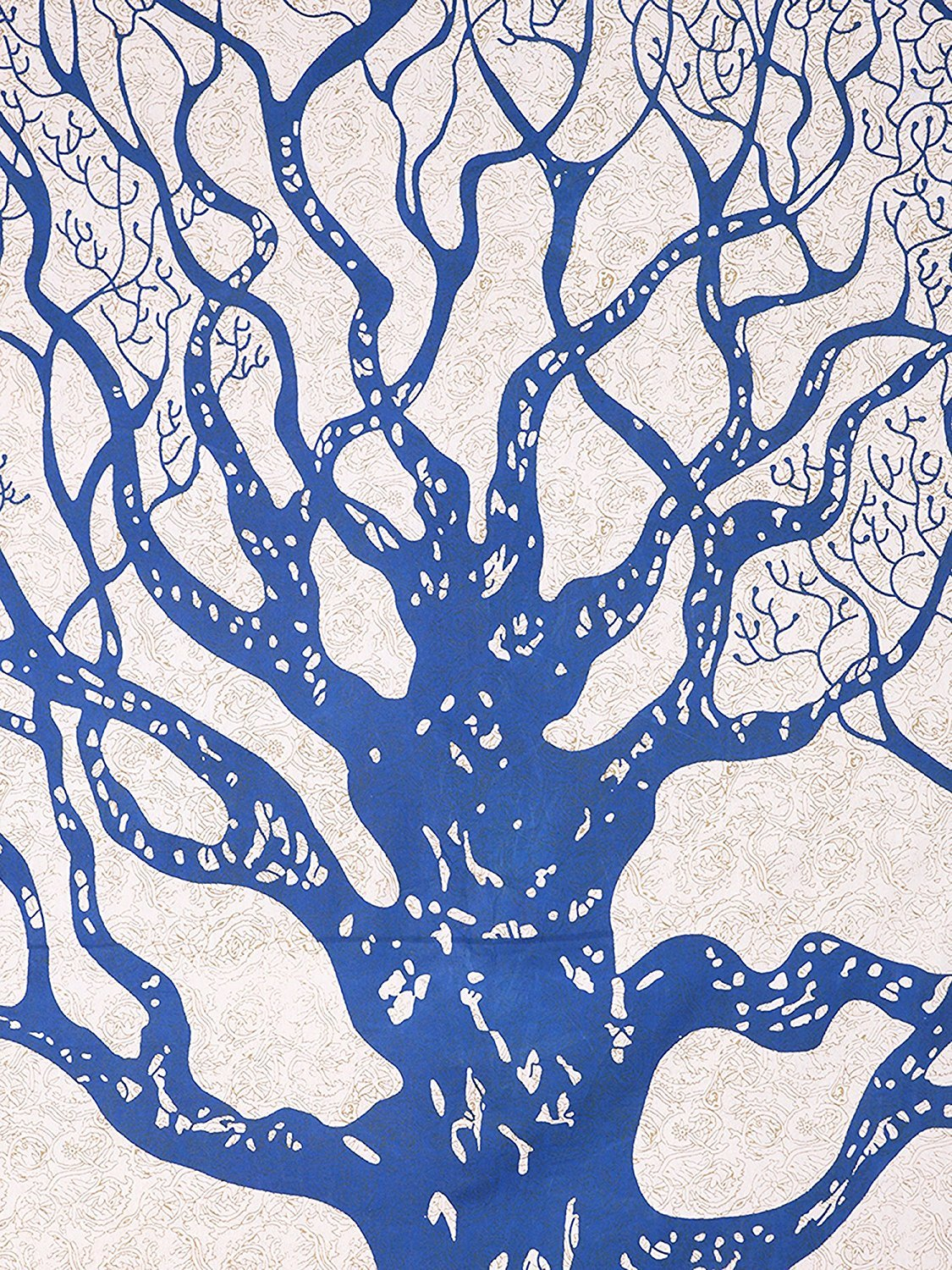 2dots Tree of Life 120 TC 100% Cotton Double Bed-Sheet with 2 Pillow ...