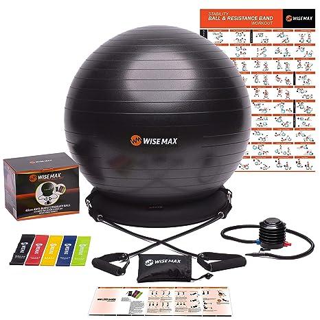 Amazon.com: WISEMAX - Silla de balón de ejercicio ...