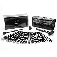 Start Makers Set di 32 pennelli per Make-Up con custodia in Cuoio di Lusso e Spugna Blender. Kit di Pennelli professionali per il Make-Up , Pacchetto Perfetto anche come idea regalo, Trucco Kabuki