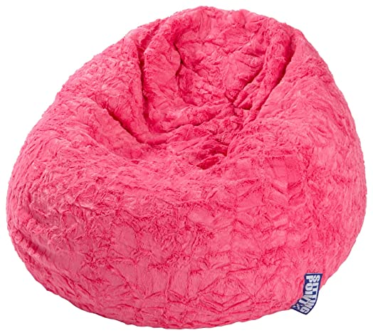 Magma Heimtex 2826052 Beanbag L Fluffy 70 X 90cm 120 Litre Polystyrene Original Knauf Pink