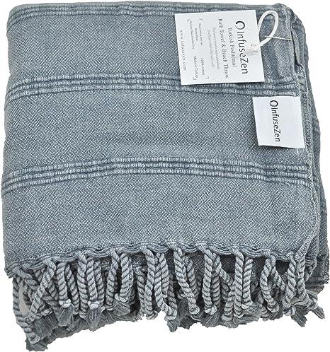 Authentic Turkish Towel Stonewash Beige Beach Towels