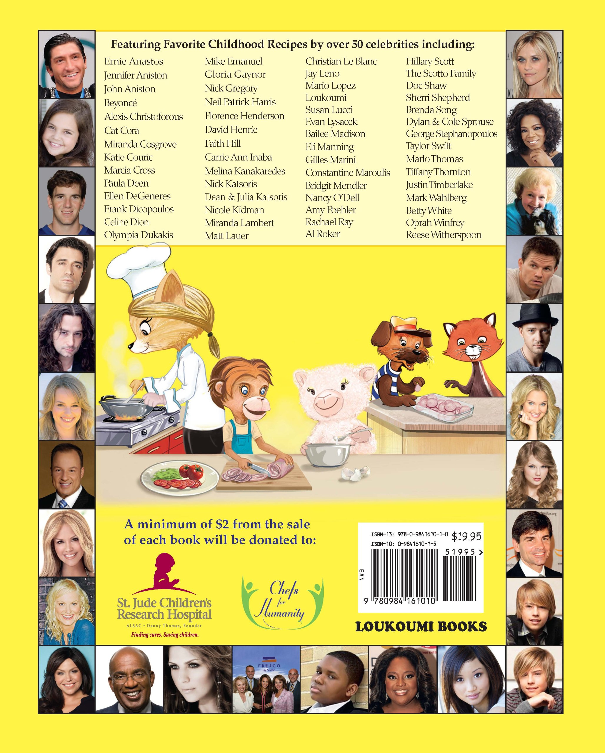 Loukoumi's Celebrity Cookbook: Nick Katsoris, Cat Cora, Al Roker, Alexis  Christoforous, Amy Poehler, Bailee Madison, Betty White, Beyonce, Brenda  Song,