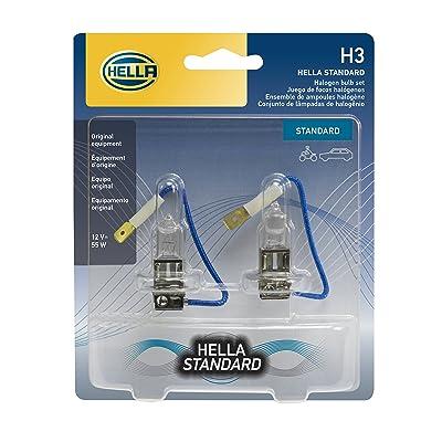 HELLA H3TB Standard-55W Standard Halogen H3 Bulbs, 12 V, 55W, 2 Pack: Automotive