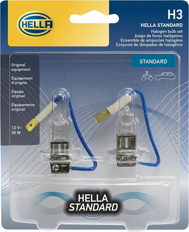 H3 Halogen 12V - 55W Brand New HELLA Porsche Bulb