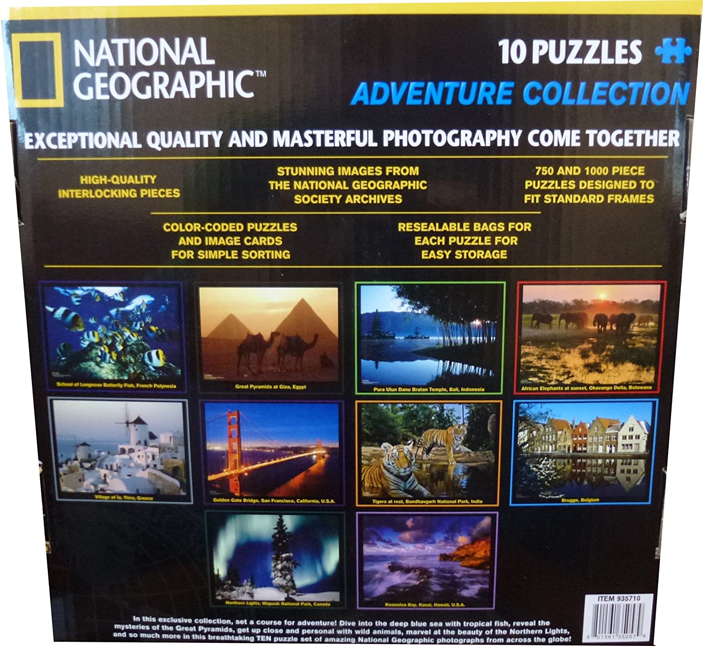 National Geographic PuzzlesAdventure Collection Amazoncouk - National geographic us map puzzle