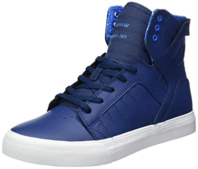low priced 69752 40268 Supra Children Kids Skytop Blue White Shoes Size 11