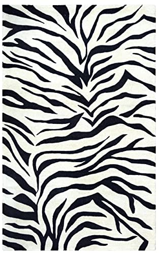 Rizzy Home Craft Collection Wool Area Rug, 3 x 5 , Off White Gray Rust Blue Animal Print