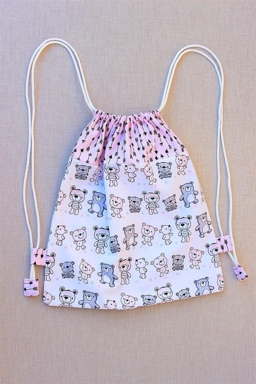Mochila de tela para la guardería, mochila infantil personalizada.: Amazon.es: Handmade