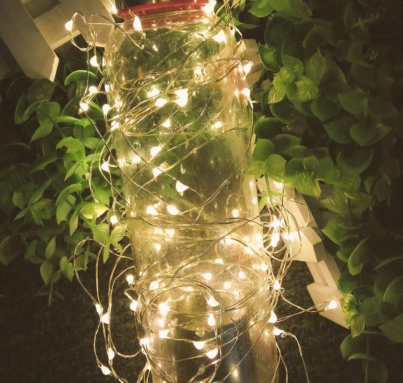 MIDWEC 10 Meter 100 LEDs Batterie Betriebene Wasserfeste Lichter ...