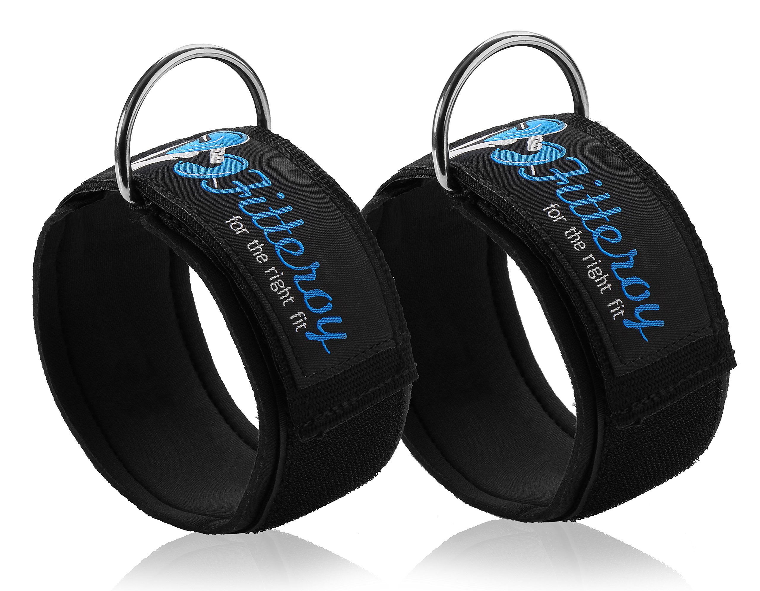 Ankle Straps for Cable Machine and Resistance Exercises (Pair) Strengthens and Tones Glutes and Hamstrings