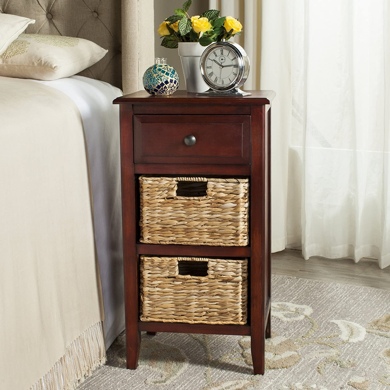 Safavieh American Homes Collection Everly Cherry Side Table