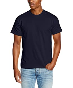 Fruit of the Loom SS022M, T-Shirt Homme, (Bleu Marine), Small